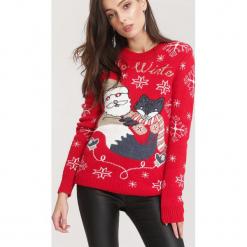 Czerwony Sweter Take A Look. Czerwone swetry klasyczne damskie other, l. Za 79,99 zł.