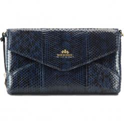 Torebka damska 19-4-557-N. Niebieskie torebki klasyczne damskie Wittchen, w paski, małe. Za 489,00 zł.