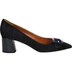 Czółenka - 5974 CAM BLU. Czarne buty ślubne damskie Venezia, ze skóry. Za 239,00 zł.