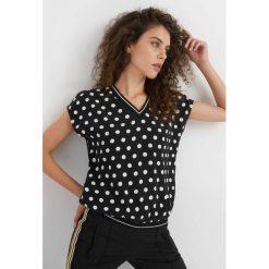 Bluzki damskie: Luźna bluzka w grochy