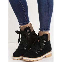 Czarno-Beżowe Traperki Rapid Growth. Brązowe buty zimowe damskie Born2be, na płaskiej podeszwie. Za 64,99 zł.