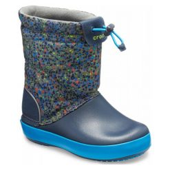 Crocs Buty Crocband Lodgepoint Graphic Boot Slate Gray/Navy 28-29 (c11). Niebieskie buciki niemowlęce chłopięce Crocs, na zimę, z materiału. Za 285,00 zł.