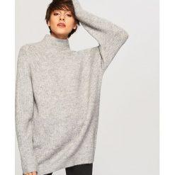 Sweter ze stójką - Jasny szar. Szare swetry klasyczne damskie marki Reserved, l, ze stójką. Za 119,99 zł.