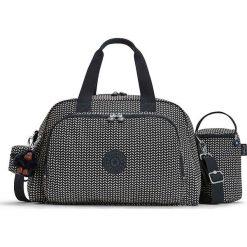 """Torba """"Camama"""" w kolorze szarym do przewijania - 45 x 24 x 15 cm. Szare torebki klasyczne damskie Kipling, w paski, z materiału. W wyprzedaży za 215,95 zł."""