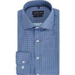 Koszula SIMONE KDWS000395. Niebieskie koszule męskie na spinki Giacomo Conti, na lato, m, z bawełny, z włoskim kołnierzykiem, z długim rękawem. Za 199,00 zł.