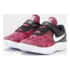 Nike Performance FLEX CONTACT  Obuwie do biegania treningowe black/white/racer pink. Czarne buty do biegania damskie Nike Performance, z materiału. W wyprzedaży za 126,75 zł.