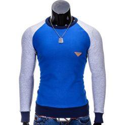 Bluzy męskie: BLUZA MĘSKA BEZ KAPTURA B453 - NIEBIESKA