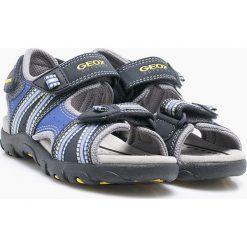 Geox - Sandały dziecięce. Szare sandały chłopięce Geox, z materiału. W wyprzedaży za 259,90 zł.