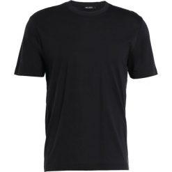 Tiger of Sweden LYOELL Tshirt basic black. Brązowe koszulki polo marki Tiger of Sweden, m, z wełny. Za 299,00 zł.