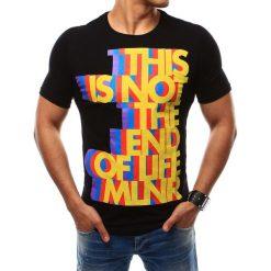 T-shirty męskie z nadrukiem: T-shirt męski z nadrukiem czarny (rx2481)