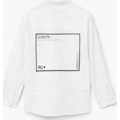 Mango Kids - Koszula dziecięca Harm 110-164 cm. Szare koszule chłopięce z długim rękawem Mango Kids, z bawełny, z klasycznym kołnierzykiem. W wyprzedaży za 49,90 zł.