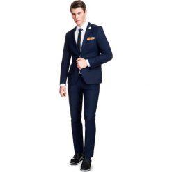Garnitur LEONARDO GAGE000040. Niebieskie garnitury marki Bertoni, z elastanu. Za 699,00 zł.