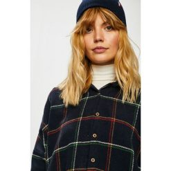 Trendyol - Koszula. Szare koszule damskie Trendyol, w kratkę, z bawełny, casualowe, z klasycznym kołnierzykiem, z długim rękawem. Za 119,90 zł.