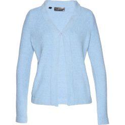 Sweter rozpinany z puszystej przędzy bonprix lodowy niebieski. Szare kardigany damskie marki Mohito, l. Za 49,99 zł.