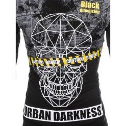 T-SHIRT MĘSKI Z NADRUKIEM S933 - CZARNY. Czarne t-shirty męskie z nadrukiem Ombre Clothing, m. Za 19,99 zł.