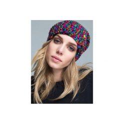 Czapka hauer KRAFF PINK BLACK hand made. Czarne czapki zimowe damskie marki Hauer, z nadrukiem, z polaru. Za 109,00 zł.