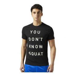 Reebok Koszulka męska Dont Know Squat czarna r. S (BQ8288). Pomarańczowe t-shirty męskie marki Reebok, z dzianiny, sportowe. Za 99,90 zł.