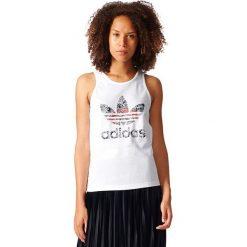Adidas Originals Koszulka damska Trefoil Tank biała r. 34 (BK2310). Szare topy sportowe damskie marki adidas Originals, na co dzień, z nadrukiem, z bawełny, casualowe, z okrągłym kołnierzem, proste. Za 91,58 zł.