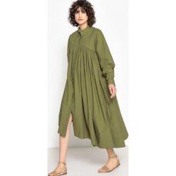 Długie sukienki: Sukienka rozszerzana, długa, gładka