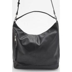 Torba typu hobo - Czarny. Czarne torebki klasyczne damskie marki Reserved. Za 129,99 zł.