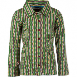 """Koszula """"Stay High"""" w kolorze zielonym ze wzorem. Zielone koszule chłopięce marki 4FunkyFlavours Kids, z klasycznym kołnierzykiem. W wyprzedaży za 102,95 zł."""