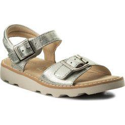 Sandały dziewczęce: Sandały CLARKS – Crown Bloom 261310606 Silver Leather