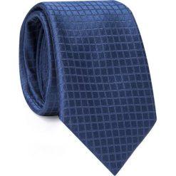 Jedwabny krawat KWGR000287. Niebieskie krawaty męskie Giacomo Conti, z jedwabiu, eleganckie. Za 129,00 zł.