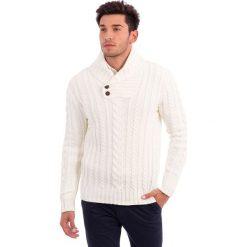 Swetry rozpinane męskie: Sweter w kolorze kremowym