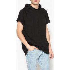 Swetry damskie: Bluza oversize z kapturem bez rękawów
