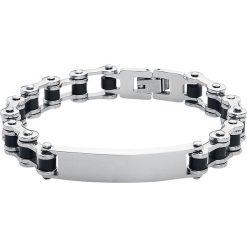 Gliederkette Bransoletka - Łańcuch czarny/odcienie srebrnego. Czarne bransoletki męskie Gliederkette, srebrne. Za 99,90 zł.