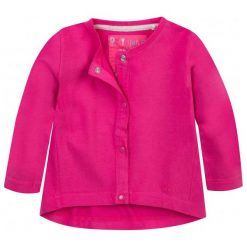 Bluzy dziewczęce rozpinane: Bluza zapinana na napy dla dziecka 0-3 lat