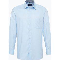 Koszule męskie na spinki: Andrew James – Koszula męska niewymagająca prasowania, niebieski