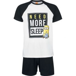 Bermudy męskie: Minions Need More Sleep Pidżama czarny/biały
