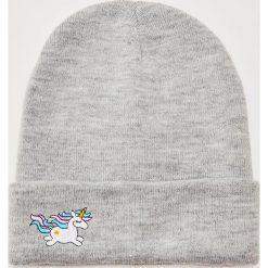 Czapka Unicorn - Jasny szar. Szare czapki zimowe damskie marki House. Za 25,99 zł.