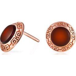 Kolczyki damskie: RABAT Kolczyki Srebrne – srebro 925, Bursztyn