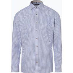 Eterna Comfort Fit - Koszula męska niewymagająca prasowania, niebieski. Niebieskie koszule męskie non-iron Eterna Comfort Fit, m, w kratkę, z klasycznym kołnierzykiem. Za 229,95 zł.