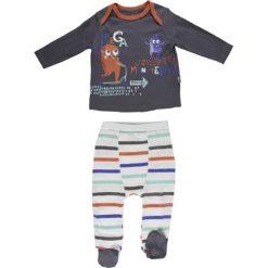 Spodnie niemowlęce: 2-częściowy zestaw w kolorze antracytowo-białym ze wzorem