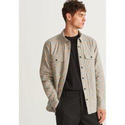 Pikowana koszula regular fit - Beżowy. Brązowe koszule męskie marki FORCLAZ, m, z materiału, z długim rękawem. Za 189,99 zł.