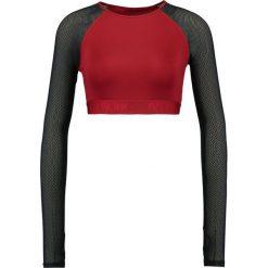 Ivy Park CROP Bluzka z długim rękawem russet. Czerwone bluzki longsleeves Ivy Park, xl, z elastanu, sportowe. Za 179,00 zł.