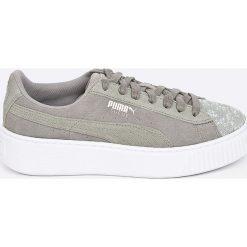 Puma - Buty Suede Platform Pebble. Szare buty sportowe damskie Puma, z gumy. W wyprzedaży za 329,90 zł.