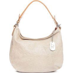 Torebki klasyczne damskie: Skórzana torebka w kolorze szarobrązowym – 27 x 23 x 12 cm
