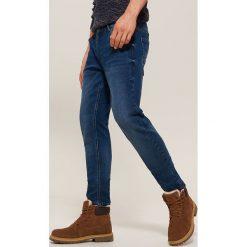 Jeansy slim fit - Niebieski. Niebieskie jeansy męskie relaxed fit House, z jeansu. Za 139,99 zł.