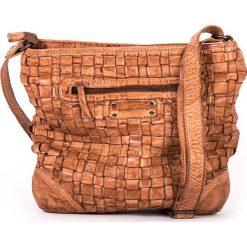 Torebki klasyczne damskie: Skórzana torebka w kolorze szarobrązowym – 28 x 26 x 7 cm