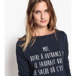 Koszulka marki Confidentielles x La Redoute « Made in France ». Szare t-shirty damskie marki La Redoute Collections, m, z bawełny, z kapturem. Za 157,46 zł.
