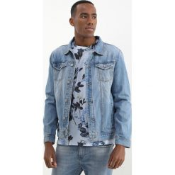 Kurtki męskie bomber: Springfield TRUCKER Kurtka jeansowa blues