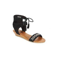 Sandały Minnetonka  PORTOFINO. Czarne sandały trekkingowe damskie Minnetonka. Za 321,30 zł.