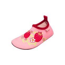 Playshoes  Buty do wody Truskawka różowy - Gr.Moda (6 - 24 miesięcy ). Czerwone buciki niemowlęce chłopięce Playshoes, z materiału. Za 49,00 zł.