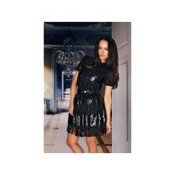 Minispódniczki: Czarna spódniczka mini z frędzelkami