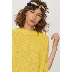 Kardigany damskie: Melanżowy sweter – Żółty