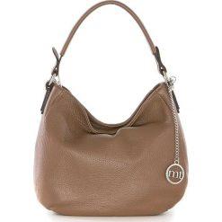Torebki klasyczne damskie: Skórzana torebka w kolorze brązowym – 30 x 20 x 8 cm